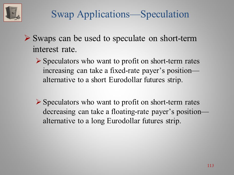 Swap Applications—Speculation