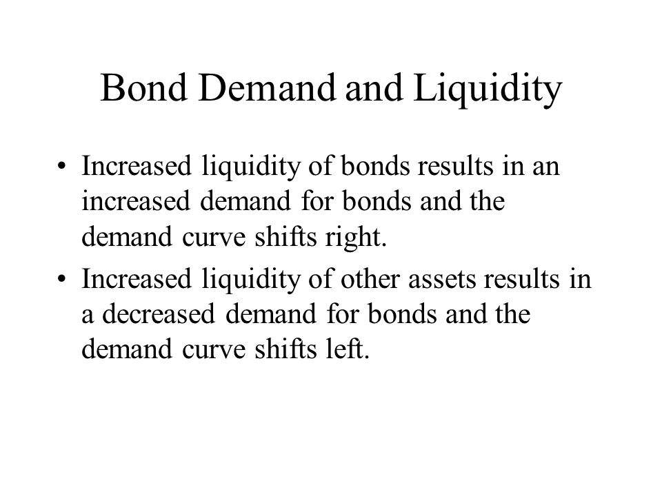 Bond Demand and Liquidity