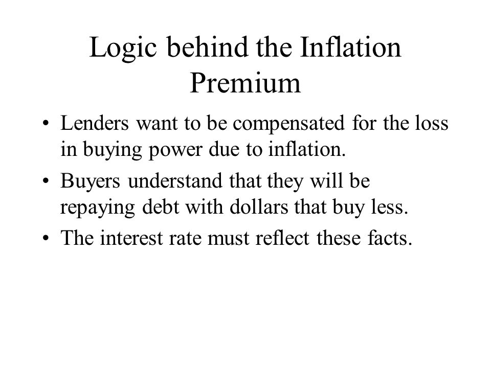Logic behind the Inflation Premium