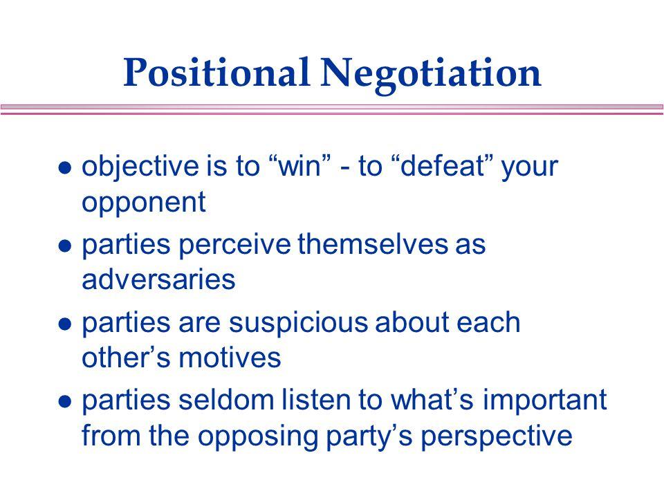 Positional Negotiation