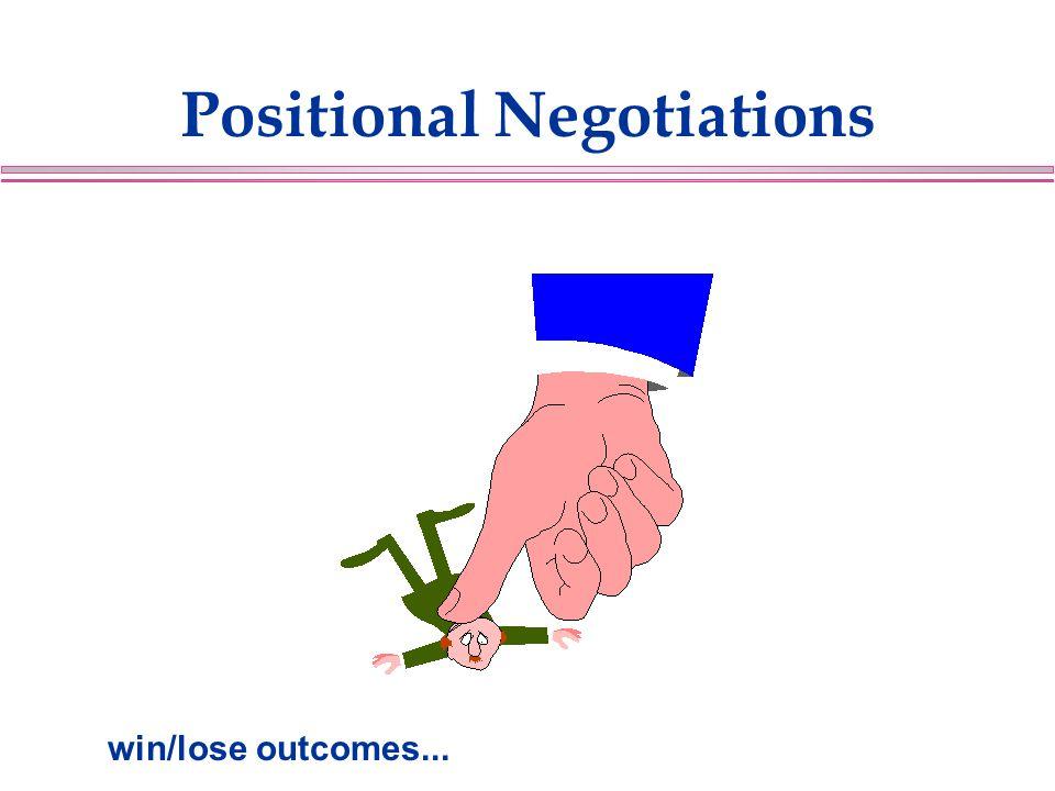 Positional Negotiations