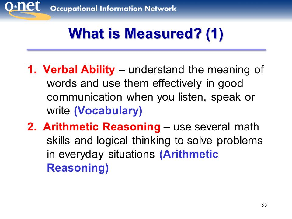 What is Measured (1)