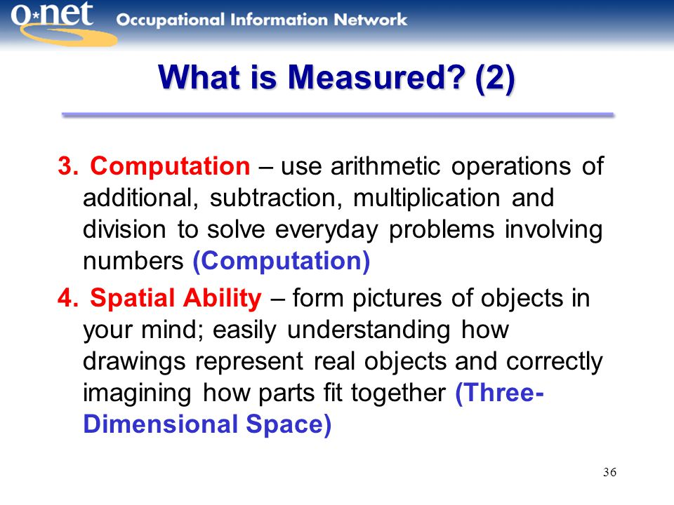 What is Measured (2)