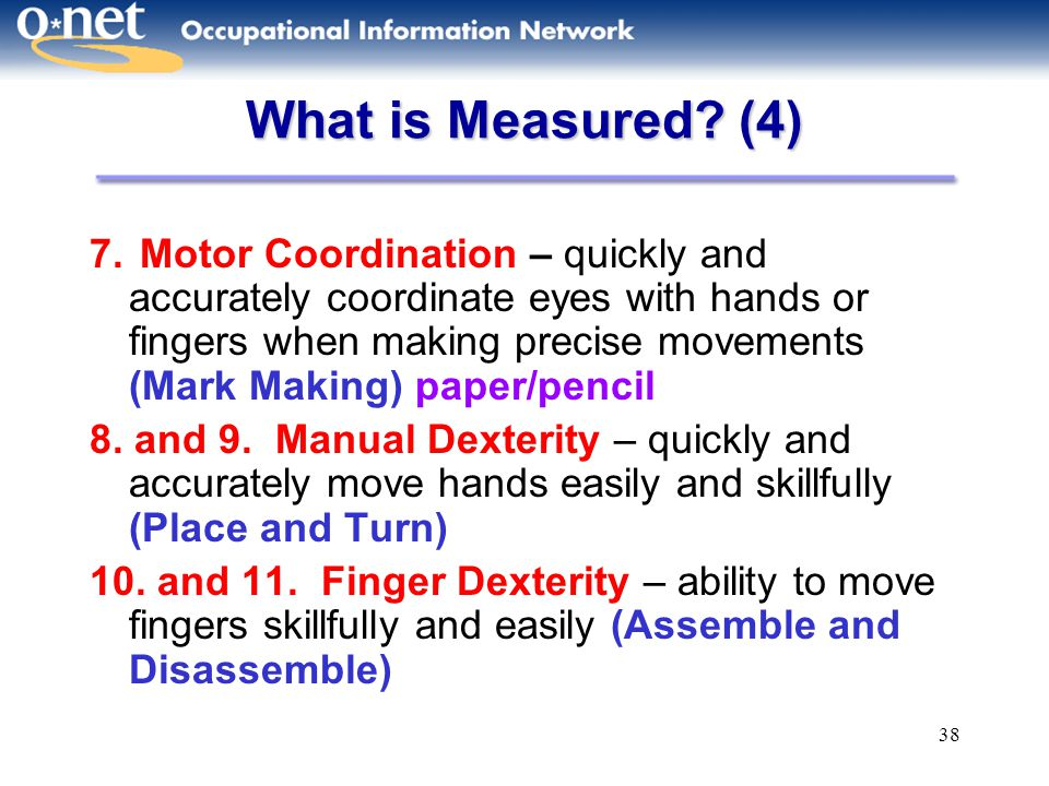 What is Measured (4)