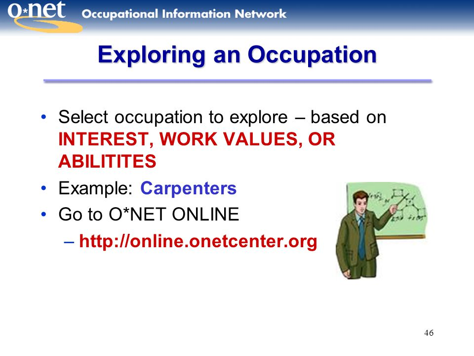 Exploring an Occupation