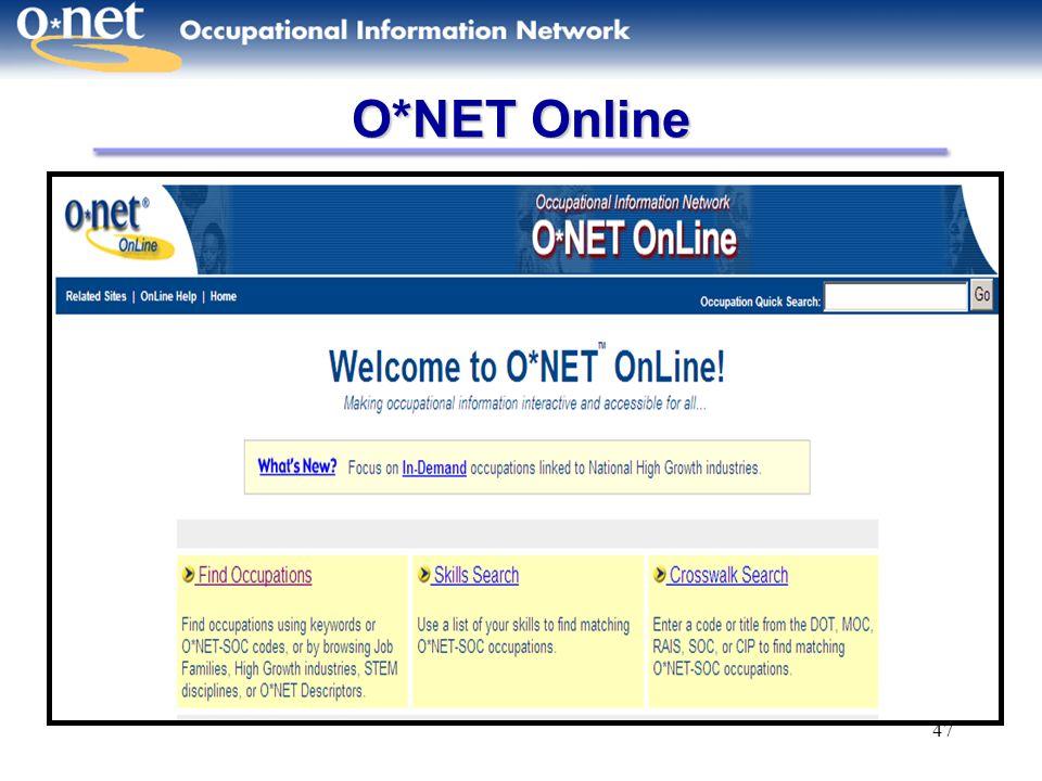 O*NET Online