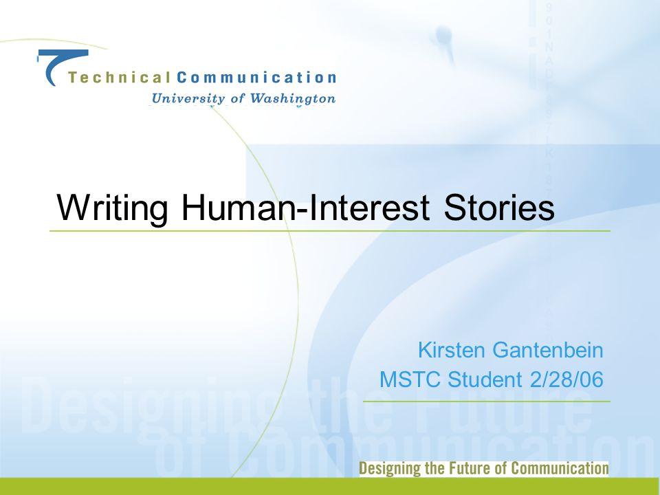 Writing Human-Interest Stories