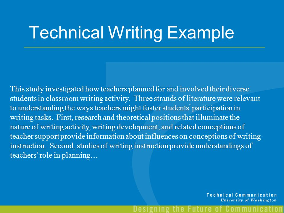 Technical Writing Example