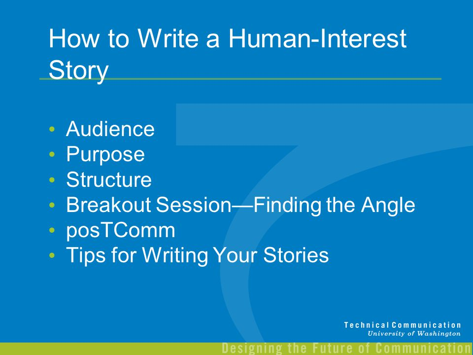 How to Write a Human-Interest Story