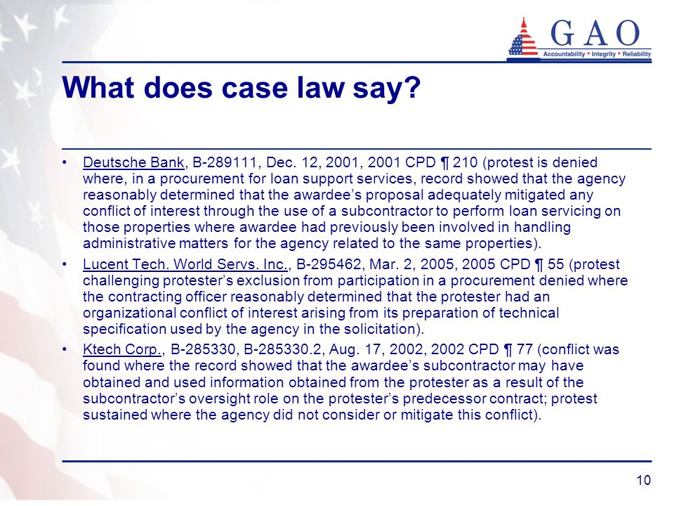 What does case law say