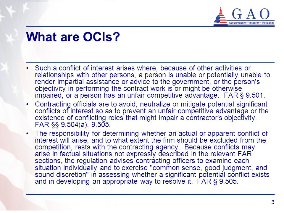 What are OCIs