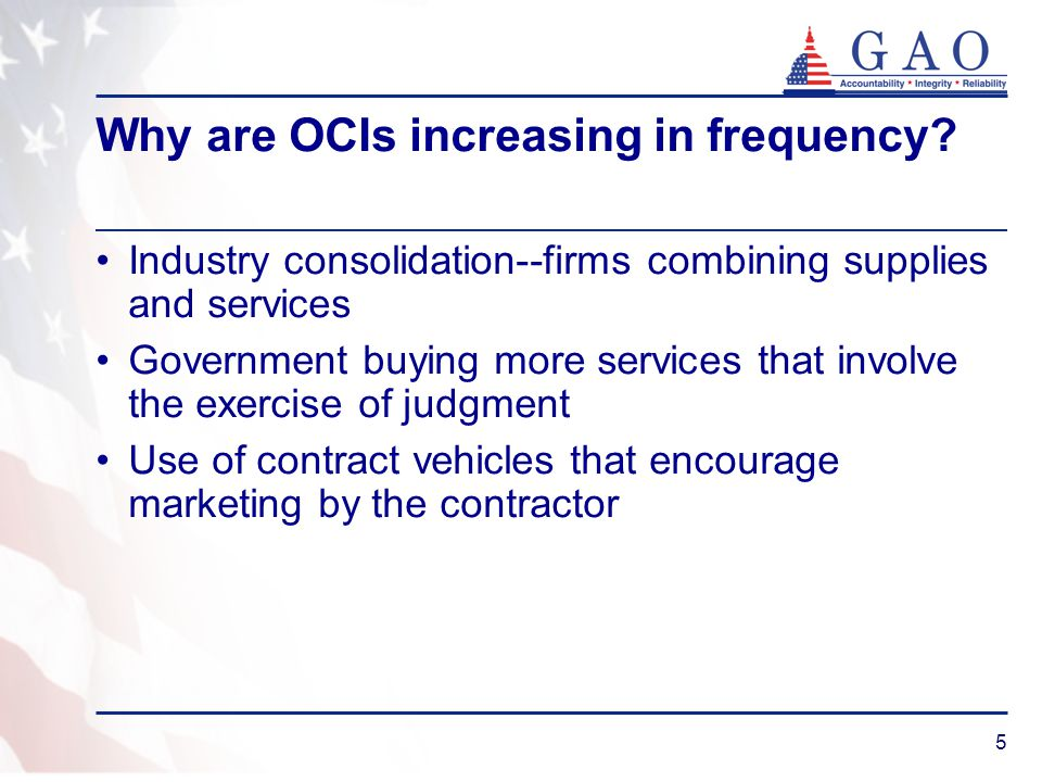 Why are OCIs increasing in frequency