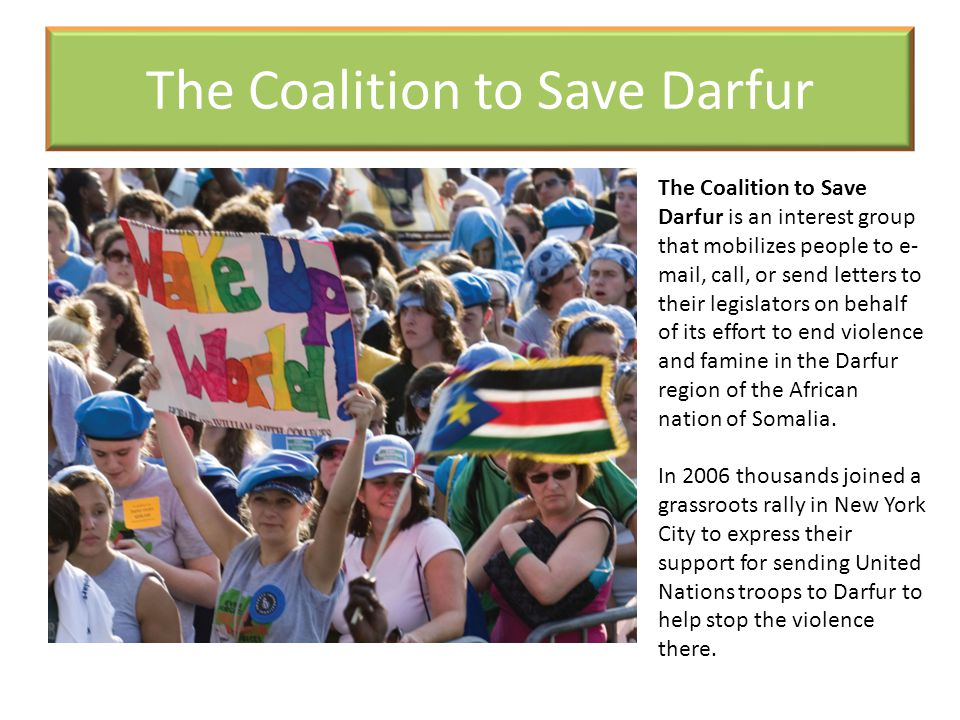 The Coalition to Save Darfur