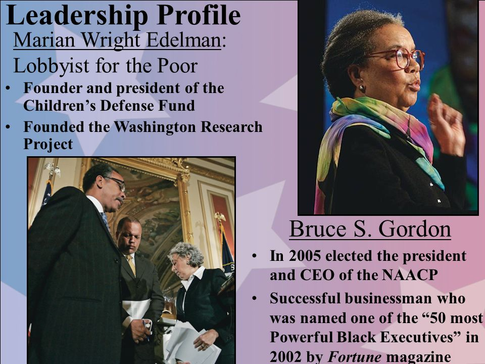 Leadership Profile Bruce S. Gordon