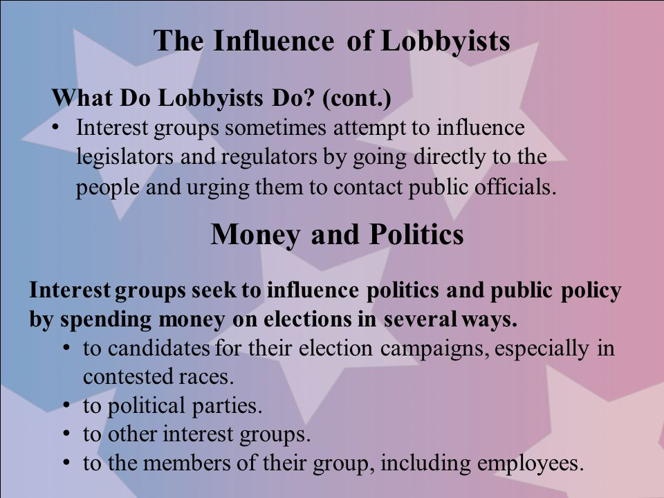 The Influence of Lobbyists