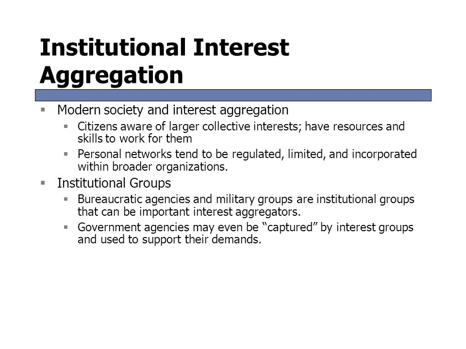 Institutional Interest Aggregation