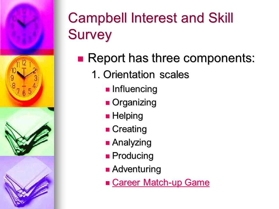 Campbell Interest and Skill Survey
