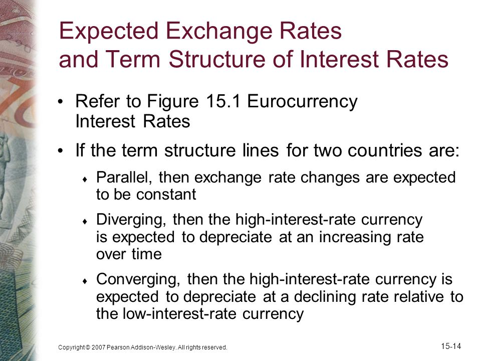 Expected Exchange Rates and Term Structure of Interest Rates