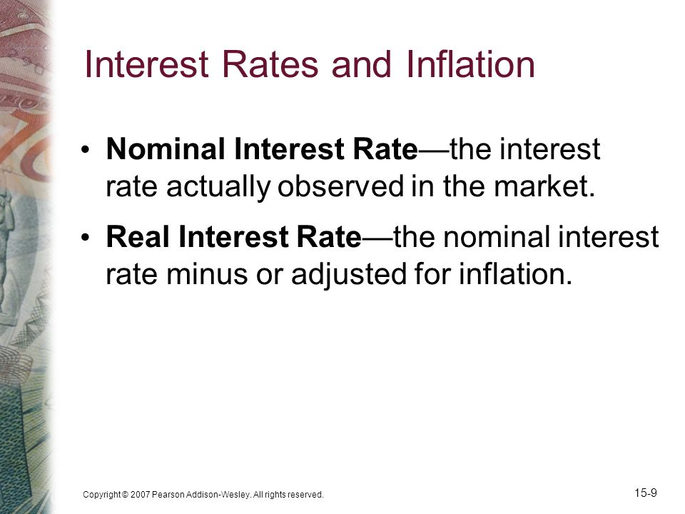 Interest Rates and Inflation