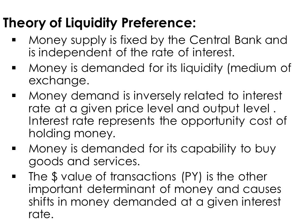 Theory of Liquidity Preference: