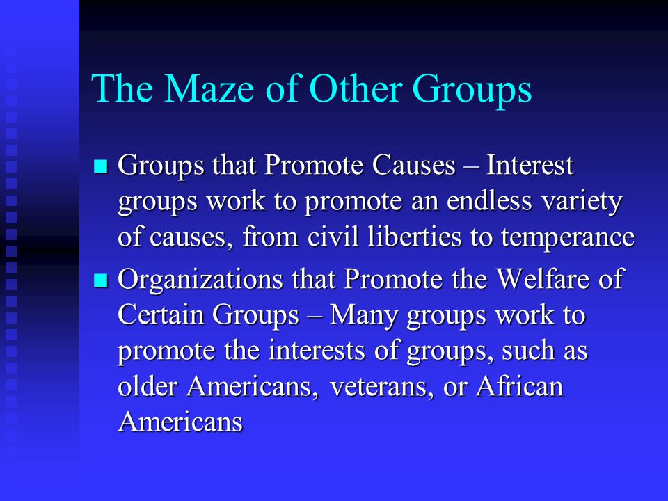 The Maze of Other Groups