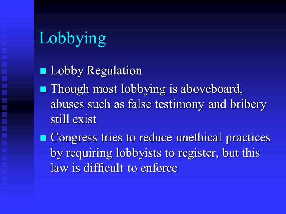 Lobbying Lobby Regulation