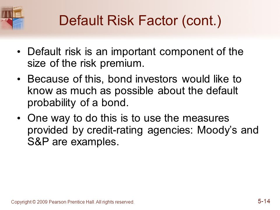 Default Risk Factor (cont.)