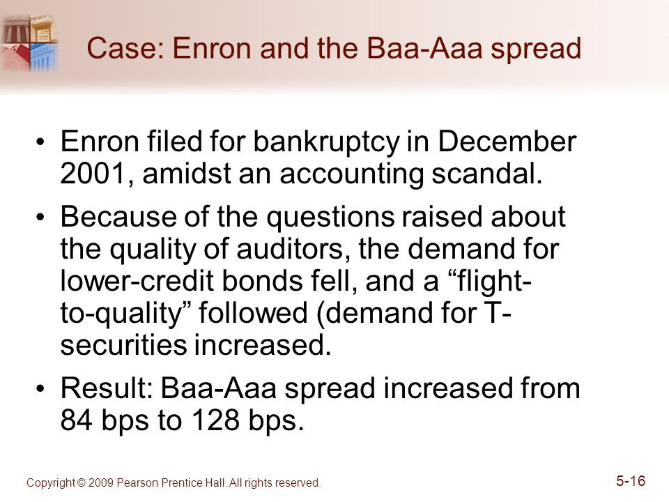 Case: Enron and the Baa-Aaa spread