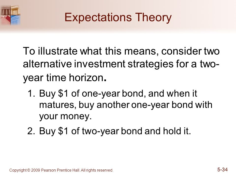 Expectations Theory To illustrate what this means, consider two alternative investment strategies for a two- year time horizon.