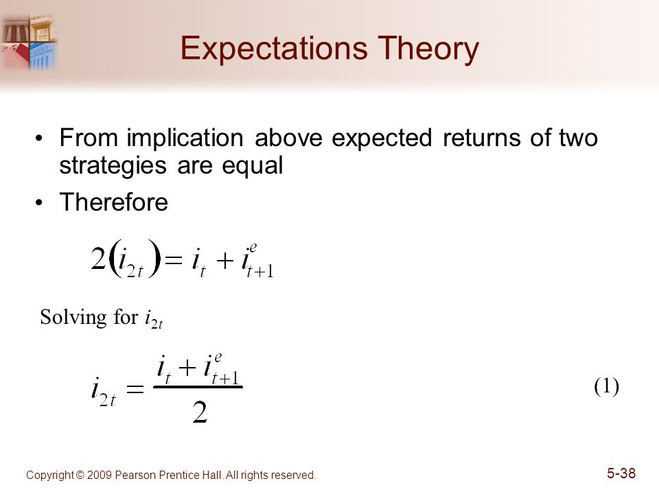 Expectations Theory From implication above expected returns of two strategies are equal. Therefore.