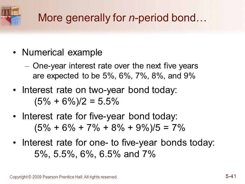 More generally for n-period bond…