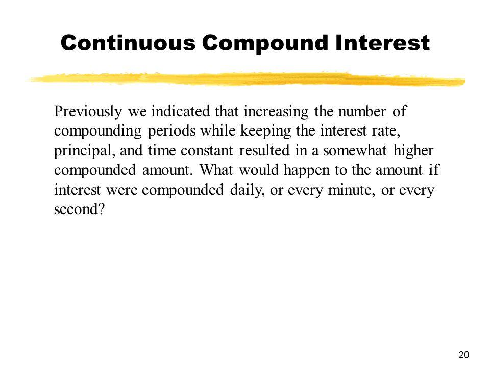 Continuous Compound Interest