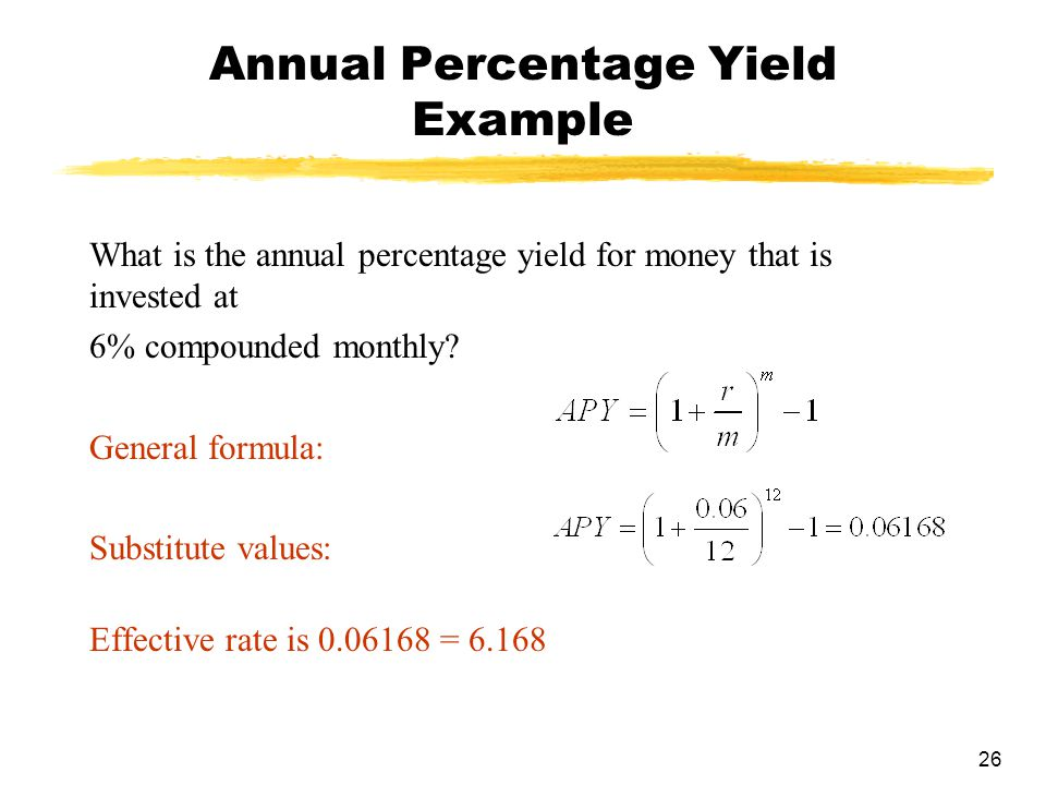 Annual Percentage Yield Example