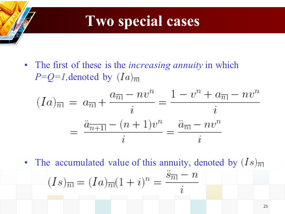 increasing annuity formula
