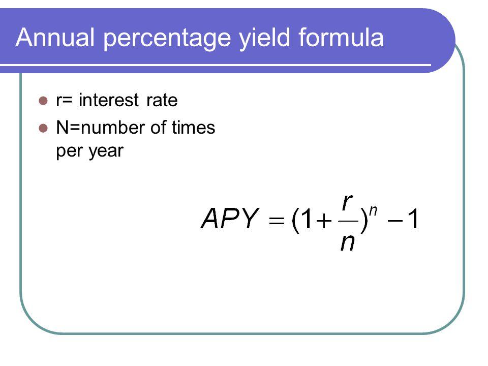 Annual percentage yield formula