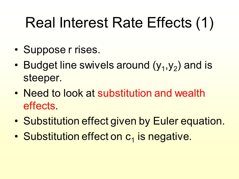 Real Interest Rate Effects (1)