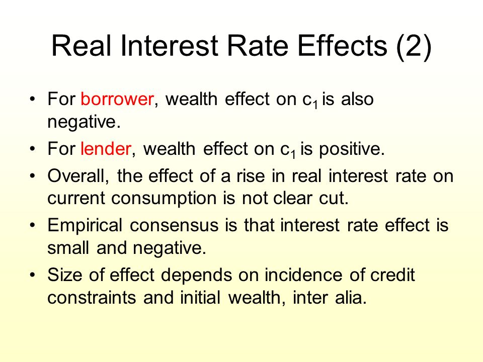 Real Interest Rate Effects (2)