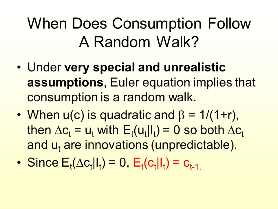 When Does Consumption Follow A Random Walk