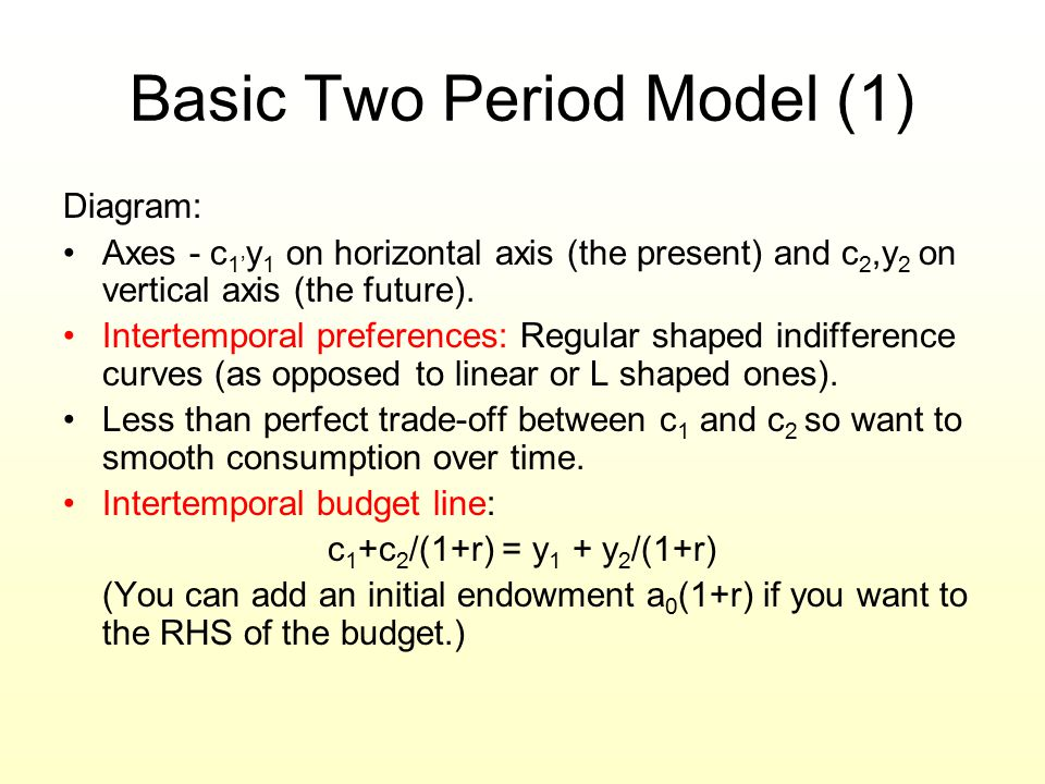 Basic Two Period Model (1)