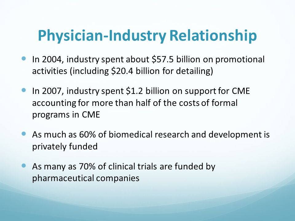 Physician-Industry Relationship