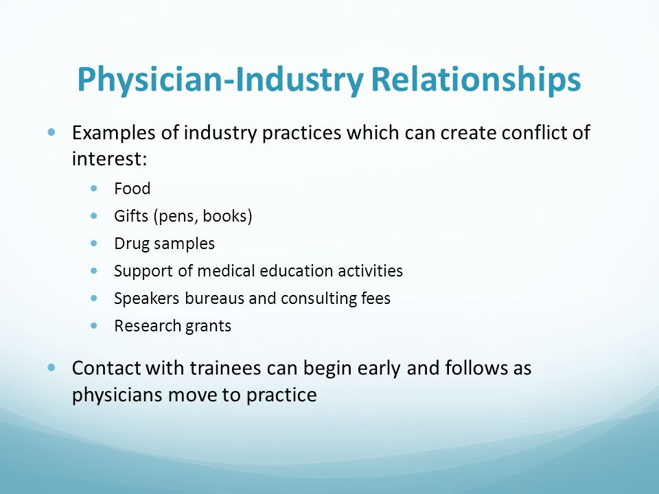 Physician-Industry Relationships