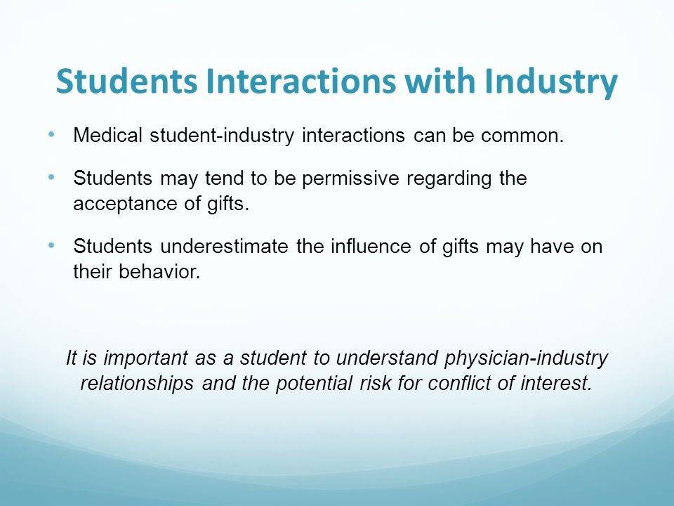Students Interactions with Industry