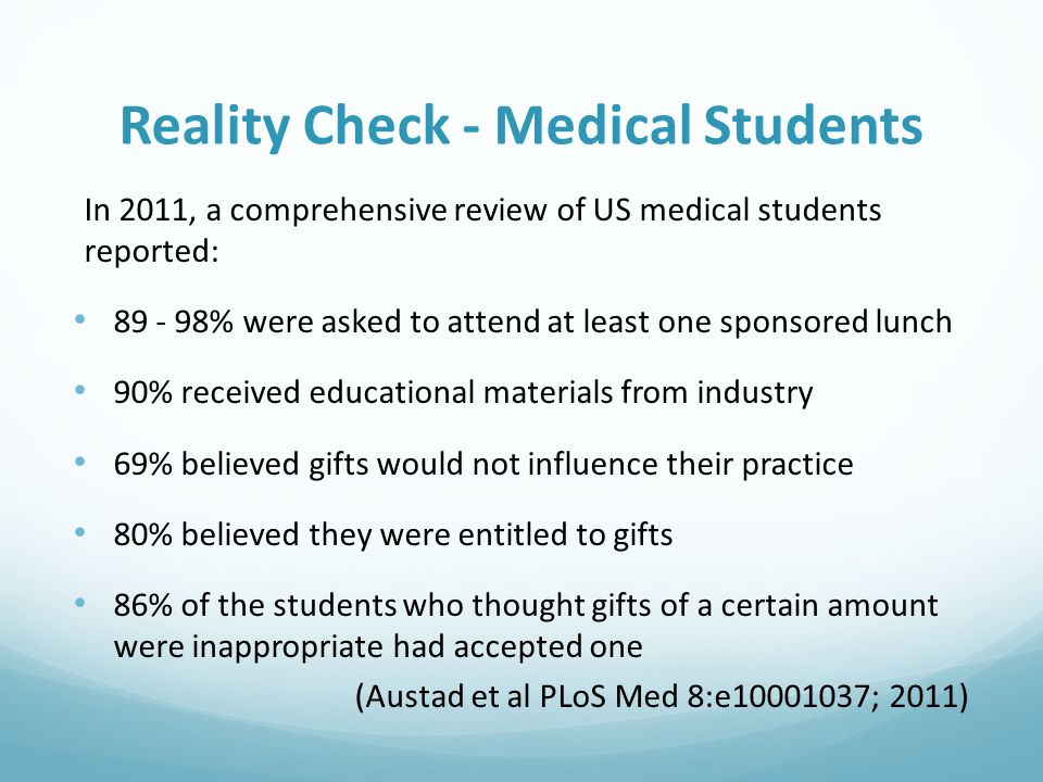 Reality Check - Medical Students