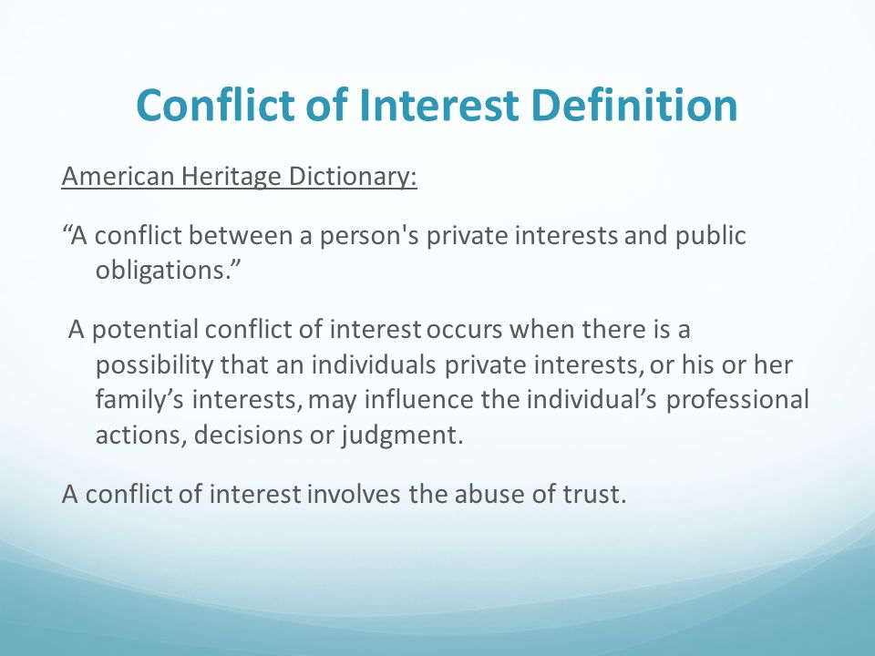 confidentiality multiple relationships conflict of interest essay An ethical practice model for protecting confidentiality rights  b explain any roles or potential conflicts of interest that might affect confidentiality  (1994) multiple relationships: does the new ethics code answer the right questions professional psychology: research and practice , 25 , 336–343.