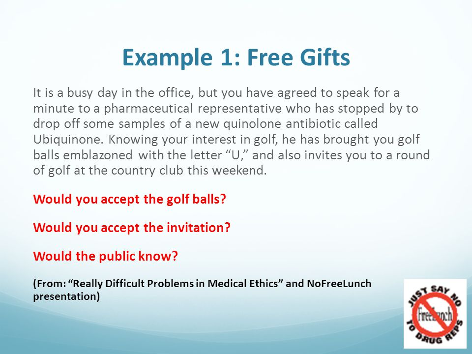Example 1: Free Gifts