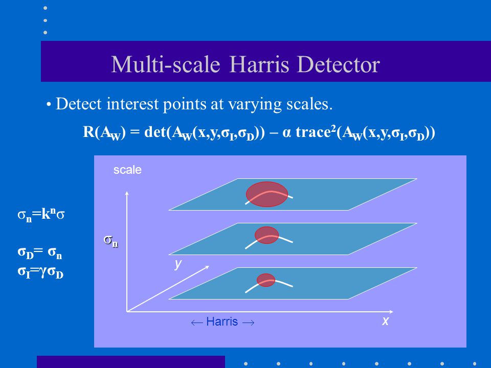Multi-scale Harris Detector