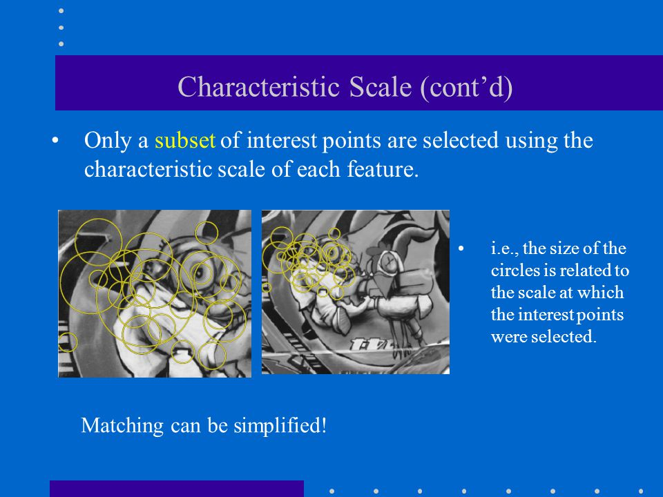 Characteristic Scale (cont'd)