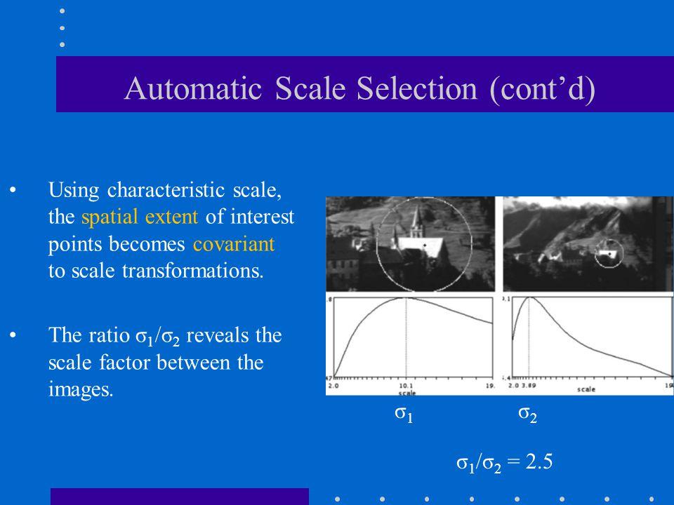 Automatic Scale Selection (cont'd)
