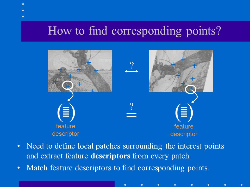 How to find corresponding points