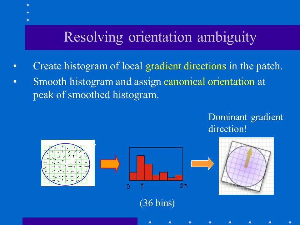 Resolving orientation ambiguity